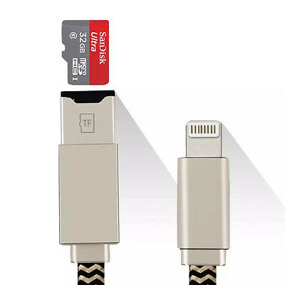 USB TF MicroSD Memory Card Reader Data Cable for IOS iPhone 5 6 6S 7 Plus i Pad