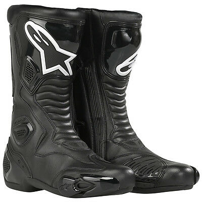 Alpinestars SMX-5 Motorbike Motorcycle Leather Sports Boots Racing Black + GIFT