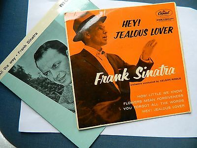 Two Frank Sinatra 7 inch 45 EP's Hey Jealous Lover/All The Way