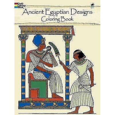 Ancient Egyptian Designs Coloring Book (Dover Design Coloring Books) (Paperback)