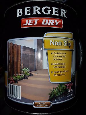 Berger Jet Dry Paving Paint Non Slip 4L Tinted Charcoal