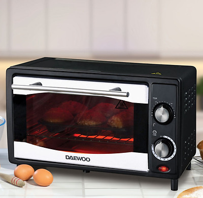 DAEWOO 10 L Small Mini Electric Compact Oven Cooker Kitchen Timer Baking Grill