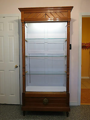 Antique Armoire Lighted Shabby Curio Cabinet - Local Pickup DFW Texas