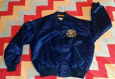 Vintage New York Fire Department Coat Bronx Engine 64 Ladder 47 XLarge FDNY Rare