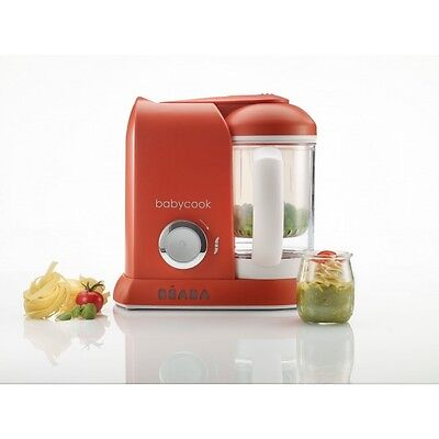 Beaba Babycook Blender Food Processor - 1100ml - Paprika Red - UK Plug - NEW