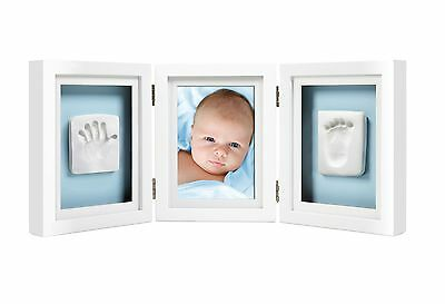 Pearhead Babyprints Newborn Baby Handprint and Footprint Deluxe Desk Photo Fr...