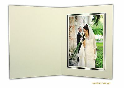 Golden State Art Cardboard Photo Folder For a 5x7 Photo (Pack of 50) GS001 Iv...