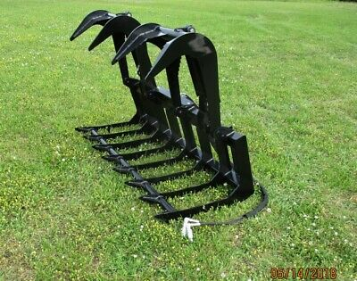 MTL Attachments HD 72 Skid Steer Root Grapple Bucket Twin Cylinder-Universal fit