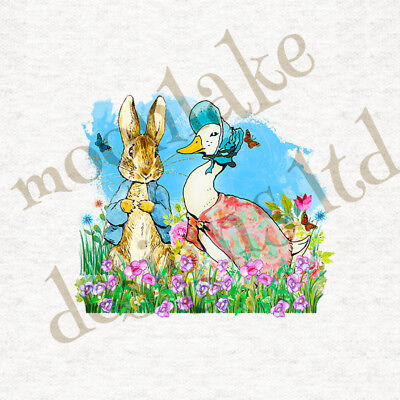 """Peter Rabbit /""""Mrs Mouse In A Shoe/"""" Fabric Cushion Quilting Craft Panel"""