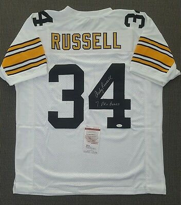 Pittsburgh Steelers Andy Russell custom jersey autographed JSA Certified