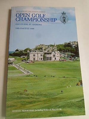 Open Golf Championship Old Course St Andrews July 1990 OFFICIAL PROGRAMME