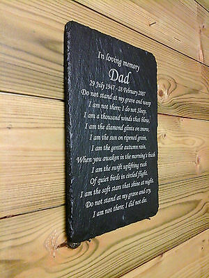 Memorial Slate Plaque Personalised for your Loved one - Memory Poem Personalised