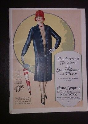 Vintage Womens Fashion Catalog LANE BRYANT Spring Summer 1928