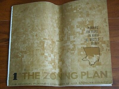 Vtg 1959 THE ZONING PLAN Los Angeles County CA Zone Map Program Booklet 28 pgs