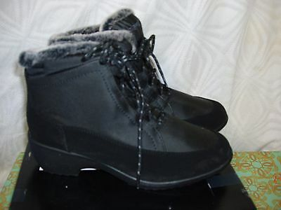 """7.5M Black ''weatherproof"""" ~Linda Style  Ankle Snow/winter Boots~New"""