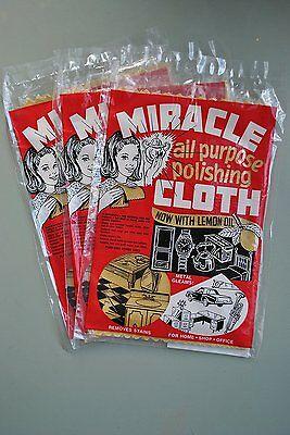 MIRACLE CLOTH - 3 pack multi purpose lemon oil cloths