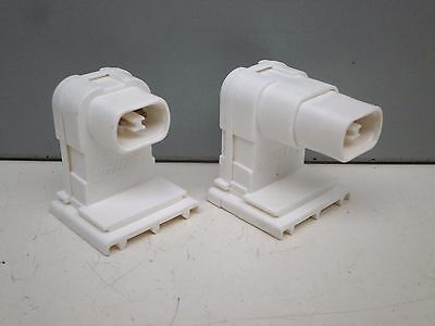 Pair of Leviton 13551/13550 Recessed Double Contact HO Fluorescent Lamp Sockets