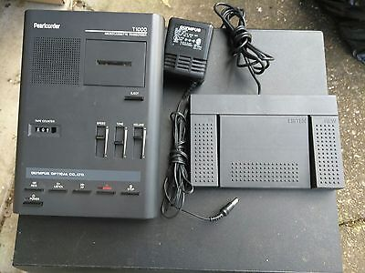 OLYMPUS Pearlcorder T1000 Microcassette Dictation Transcriber
