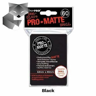Ultra Pro Sleeves-SMALL-MATTE-BLACK-Yu-Gi-Oh!+Cardfight!! Vanguard size