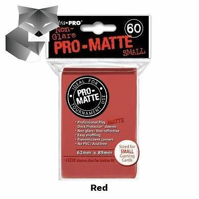 Ultra Pro Sleeves-SMALL-MATTE-RED-Yu-Gi-Oh!+Cardfight!! Vanguard size