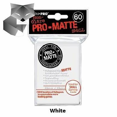 Ultra Pro Sleeves-SMALL-MATTE-WHITE-Yu-Gi-Oh!+Cardfight!! Vanguard size