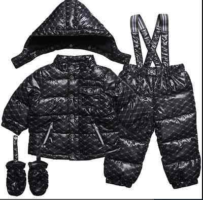 Nwt New Down Filled Padded Armani Junior Baby Boys 2 Piece Snow Suit Snowsuit 6M