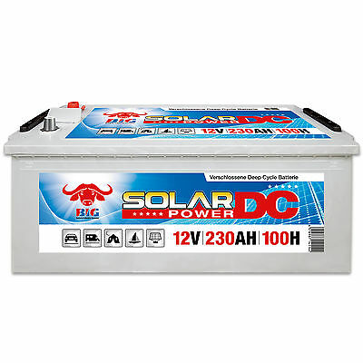 Solarbatterie 12 V 230 Ah (100h) BIG DCS Antrieb Beleuchtung Boot Versorgungs
