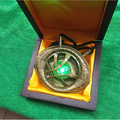 US! Movie Glowing Dr. Strange Eye of Agamotto Necklace Cosplay Costume Prop
