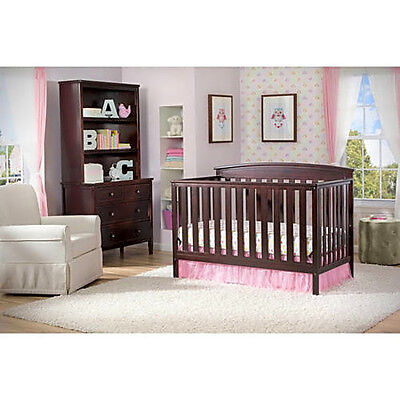 Delta Children's Products Gateway 4-in-1 Fixed-Side Crib, Dark Chocolate