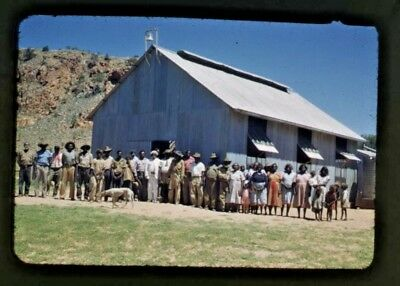 1953 Orig 35 Mm Colour Slide Aboriginal Church Group Near Hermannsburg Nt C61