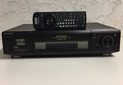 Sony SLV-975HF Flying Erase Head VHS VCR Video Cassette Recorder Player w Remote