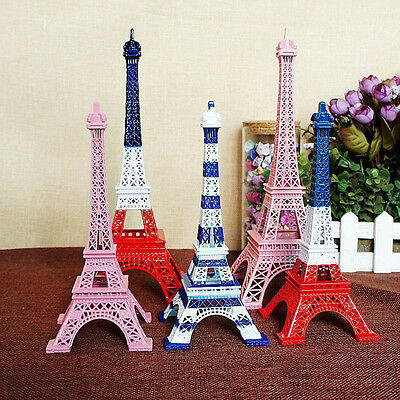 Creative Eiffel Tower Statue Sculpture Paris Decor Metal Home Ornament Colorful