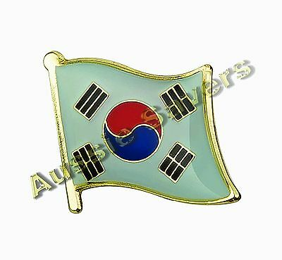 South Korea Flag Hat Pin, Lapel Badge - Brand New