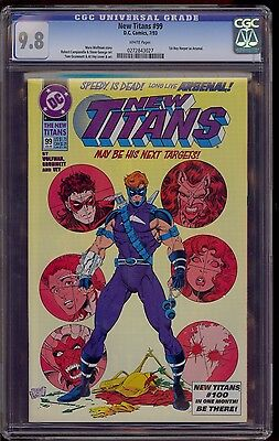 NEW TITANS #99 CGC 9.8 1st APPEARANCE of ARSENAL 1993 DC COMICS COMIC KINGS