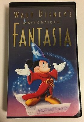 Walt Disney's Masterpiece FANTASIA Black Clamshell Case Diamond Edition VHS 1991