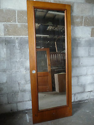 Antique Craftsman Style Mirrored Door - C. 1910 Oak / Fir Architectural Salvage