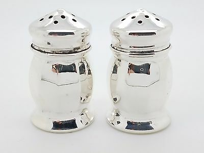 Vintage Sterling Silver No Mono Small Table Salt & Pepper Shaker 19.1 Grams