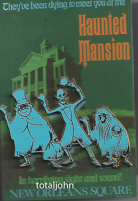 Disney WDI Haunted Mansion Pin and Attraction Poster  LE 300 Hitchhiking Ghosts