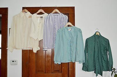 lot of 70s/80s secretary blouses size small to medium