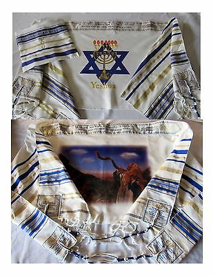 Quantity (6) Yeshua Flame Tallit & (6) Blow Shofar Tallit , Tallit Bags Included