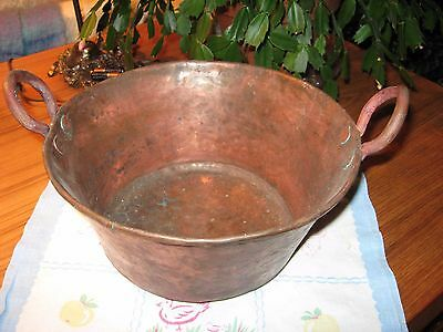 Vintage Hammered Copper Vessel- Very Heavy-Very Cool
