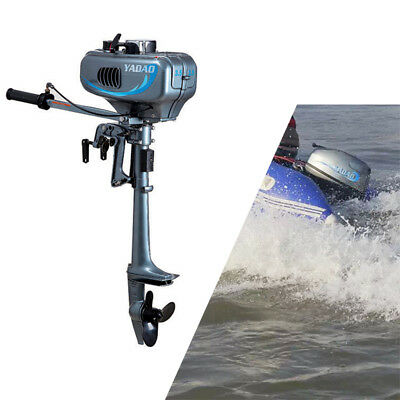 UPDATED 2Stroke 2.5kw(3.5HP) Outboard Motor Boat Sailboat Engines CDI water cool