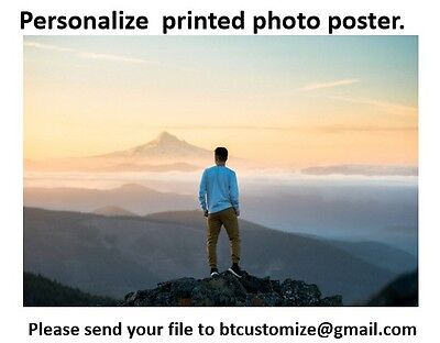 """Personalize  Printed matte Poster Custom PHOTO POSTER 24""""x 36"""""""
