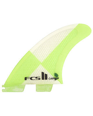 Fcs II Carver Pc In Medium Tri Fin Set Surfboard Fins New & Genuine From FCS 2