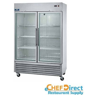 """Arctic Air AGR49 54"""" Two Section Glass Door Reach-In Refrigerator"""