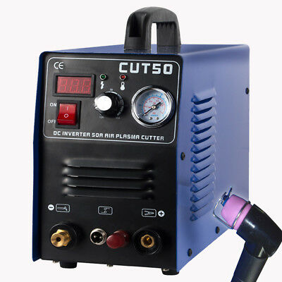 50A Plasma Cutter CUT50 Pilot Arc 220V CNC Compatible  accessories clean cut