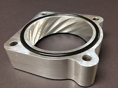 SILVER DUAL THROTTLE BODY SPACER for 2009 to 2017 NISSAN 370Z NISMO FAIRLADY Z