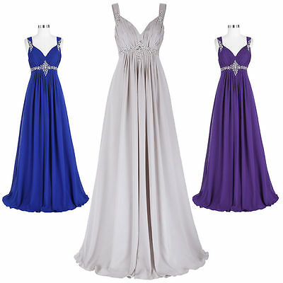 Sequins Long Chiffon Bridesmaid Prom Formal Gowns Party Evening Cocktail Dress.