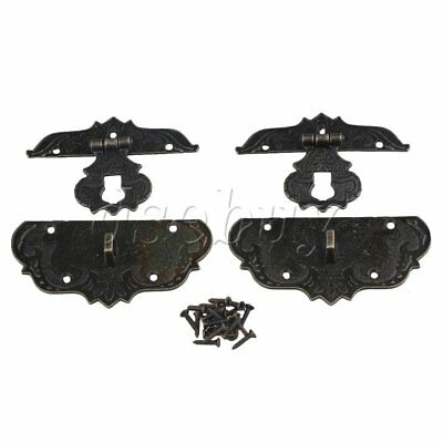 2pcs Old Style Chinese Fire Totem Metal Lock Buckle for Cases Jewelry Box