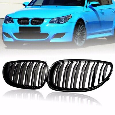 Gloss Black Front Kidney Sport Grille Grill For Bmw E60 E61 5 Series 2003-2010